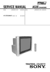 Руководство по техническому обслуживанию Sony KV-DR29M69