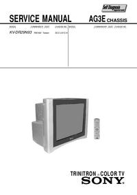 Instrukcja serwisowa Sony KV-DR29N93
