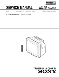 Service Manual Sony KV-EX29M69