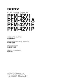 manuel de réparation Sony PFM-42V1A