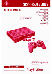 Schaltplan Sony Playstation SCPH-7500 Series