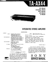 Instrukcja serwisowa Sony TA-AX44