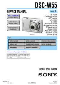 Manual de serviço Sony DSC-W55