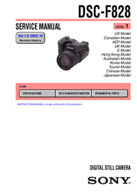 Servicio y Manual del usuario Sony DSC-F828