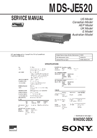 Service Manual Sony MDS-JE520