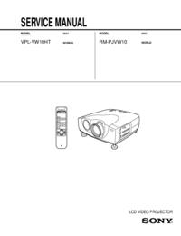manuel de réparation Sony RM-PJVW10