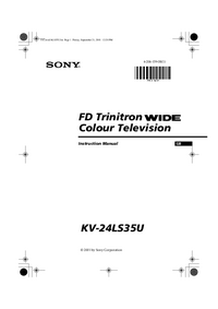 User Manual Sony KV-24LS35U
