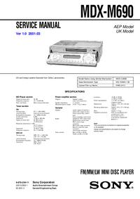 Service Manual Sony MDX-M690