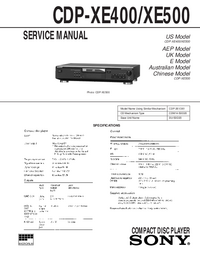 Manual de servicio Sony CDP-XE500