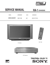 Manual de servicio Sony KW-34HD1