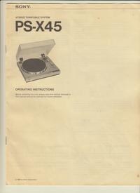 Manuel de l'utilisateur Sony PS-X45