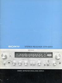 Manuale d'uso Sony STR-6050