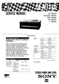 Manuale di servizio Sony TA-N77ES