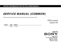 Руководство по техническому обслуживанию Sony KDL-32R435A