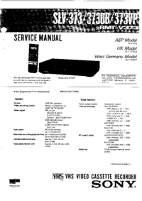 Service Manual Sony SLV-373VP