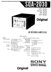 Service Manual Sony SQA-2030