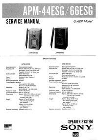 Instrukcja serwisowa Sony APM-66ESG