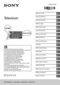 Manuale d'uso Sony KD-55XG70xx