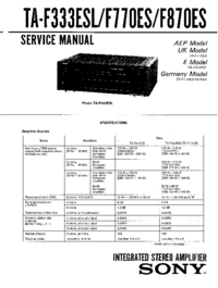Manual de servicio Sony TA-F333ESL