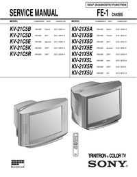 Servicehandboek Sony KV-21C5D