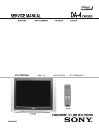 Manual de servicio Sony KV-38DRC500