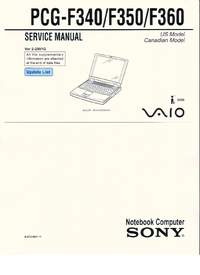 Manual de servicio Sony PCG-F360