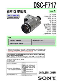 Manual de serviço Sony DSC-F717