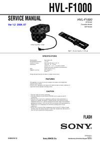 manuel de réparation Sony HVL-F1000