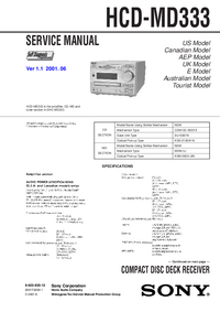 Manual de servicio Sony HCD-MD333