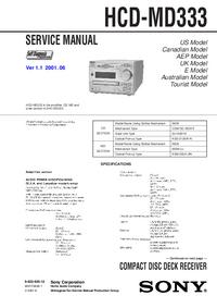 Manual de serviço Sony HCD-MD333