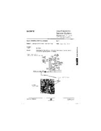 Supplément manuel de réparation Sony GVM 2020