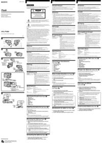 Instrukcja obsługi Sony HVL1000