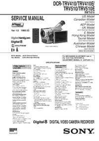 Manual de servicio Sony DCR-TRV510