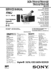 Serviceanleitung Sony DCR-TRV410E