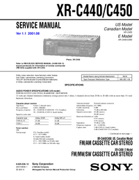 Manual de servicio Sony XR-C440