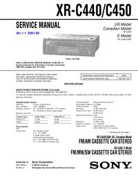 Serviceanleitung Sony XR-C440