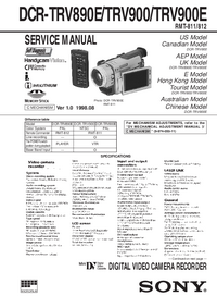 Manual de servicio Sony DCR-TRV900