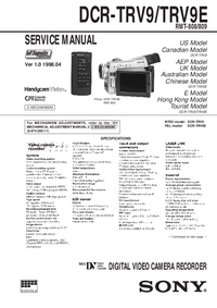 Manual de servicio Sony DCR-TRV9