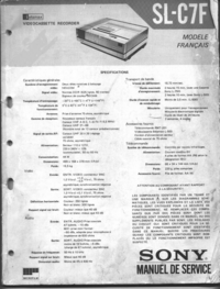 Service Manual Sony SL-C7F