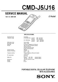 Instrukcja serwisowa Sony CMD-J16