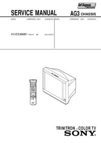 Manuale di servizio Sony KV-ES38M31