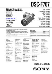 Serviceanleitung Sony DSC-F707