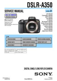Instrukcja serwisowa Sony DSLR-A350
