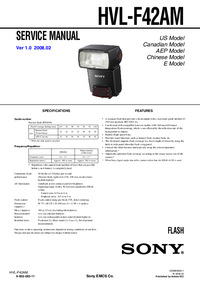 Manual de serviço Sony HVL-F42AM