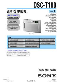 Manuale di servizio Sony DSC-T100