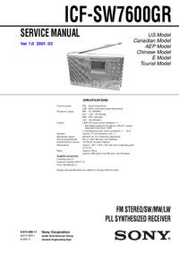 Service Manual Sony ICF-SW7600GR