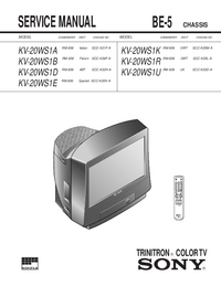 Service Manual Sony KV-20WS1U