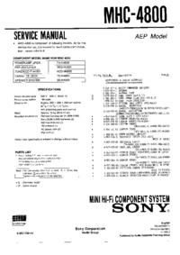 Servicehandboek Sony SEQ-H4800