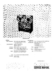 manuel de réparation Sony TC-765