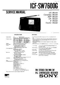Instrukcja serwisowa Sony ICF-SW7600G